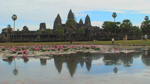 angkor wat 03 Stock Video Footage