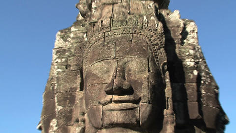 Ankor wat face Stock Video Footage