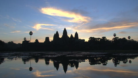 Angkor Wat sunrise time lapse Footage