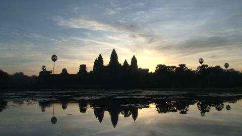 Angkor Wat sunrise time lapse Stock Video Footage