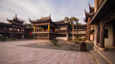 Cloudy sky in an Old Style Chinese Architecture