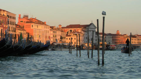 venice gondola 01 e Stock Video Footage