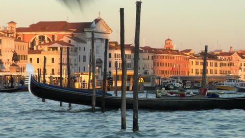venice gondola 03 e Stock Video Footage