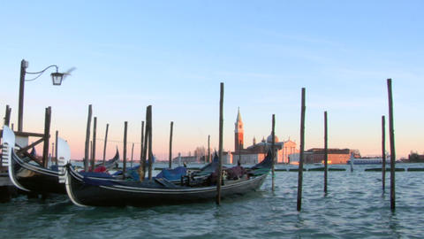venice gondola 05 Stock Video Footage