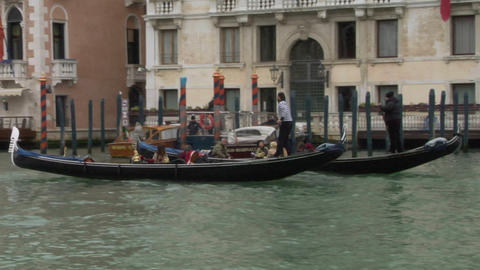 venice gondola 11 e Stock Video Footage