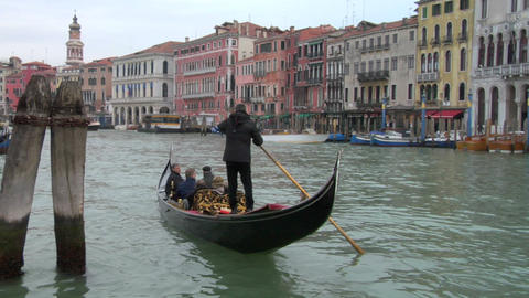 venice gondola 13 e Stock Video Footage