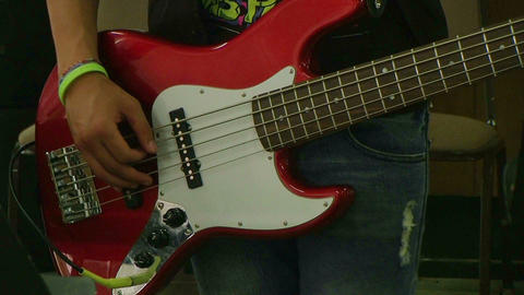 Student Playing Guitar Stock Video Footage