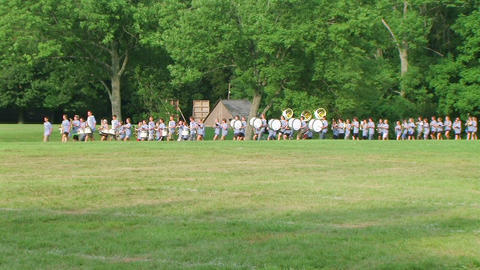 Marching Band Performs Stock Video Footage