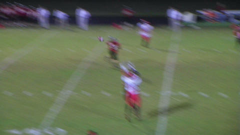 Player Intercepts Football 04 Stock Video Footage