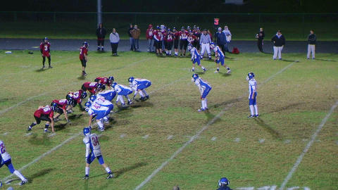Player Intercepts Football 06 Stock Video Footage