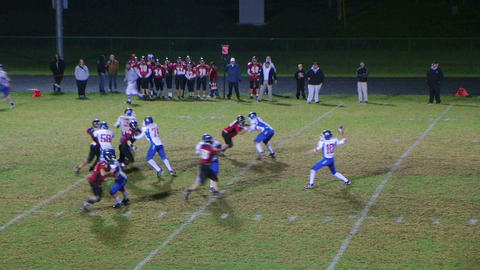 Player Intercepts Football 06 Footage