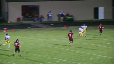 Quarterback Touchdown Pass 05 Stock Video Footage
