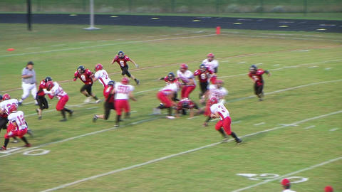 Player Scores Touchdown 03 Stock Video Footage