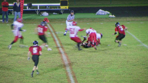 Punt Team Forces Fumble Stock Video Footage