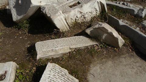 beijing yuanmingyuan history legacy wreckage,Broken... Stock Video Footage