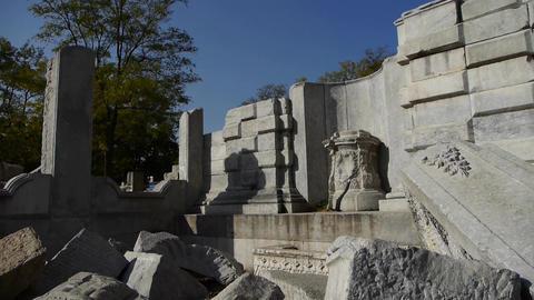 china beijing yuanmingyuan,history legacy wreckage,royal... Stock Video Footage