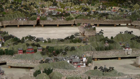 sandbox model of yuanmingyuan in Beijing Stock Video Footage