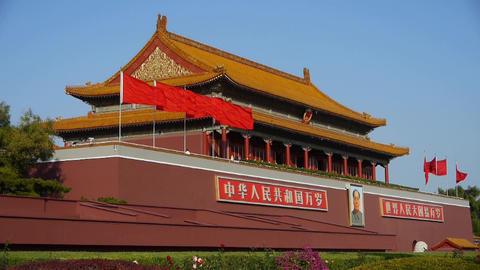 Beijing Tiananmen,China Political center Stock Video Footage