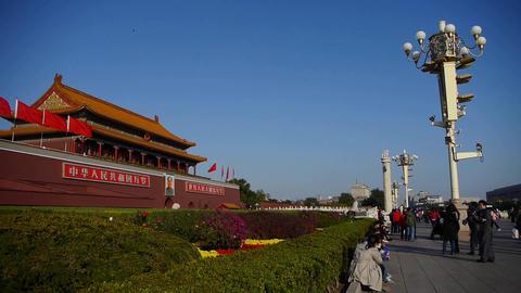 panoramic of Beijing Tiananmen & Forbidden... Stock Video Footage