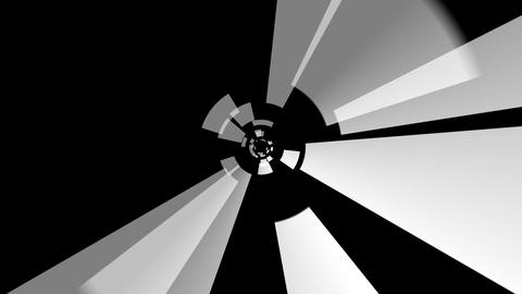 white solid tunnel with alpha Stock Video Footage