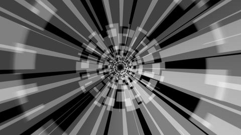 digital hypnotize tunnel with alpha Stock Video Footage