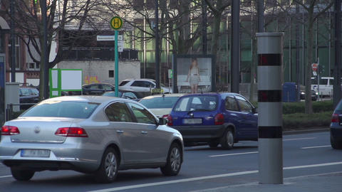 Speedlight flashes of speeding cars in the city - slow... Stock Video Footage