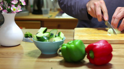 Cut onion Stock Video Footage