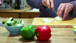 Cut onion Stock Video Footage
