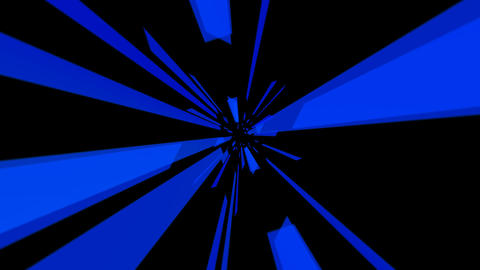flying blue tunnel with alpha Stock Video Footage