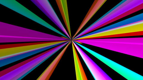 retro rainbow rays with alpha Stock Video Footage