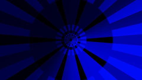 hypnotize blue tunnel with alpha Stock Video Footage