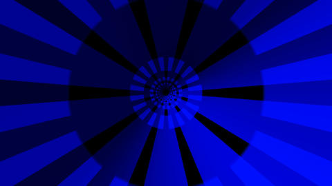 hypnotize blue tunnel with alpha Animation