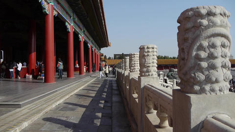 Dragon & Cloud Carving Totem In Forbidden City,China
