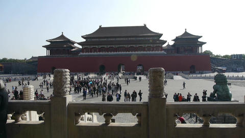 Forbidden City & traveler,China's royal ancient... Stock Video Footage