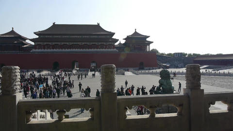 Forbidden City & traveler,China's royal ancient... Stock Video Footage