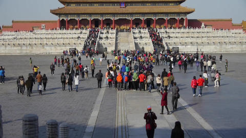 Forbidden City & Group tours,China's royal ancient... Stock Video Footage