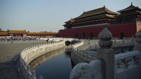 forbidden city & water moat bridge,China's royal... Stock Video Footage