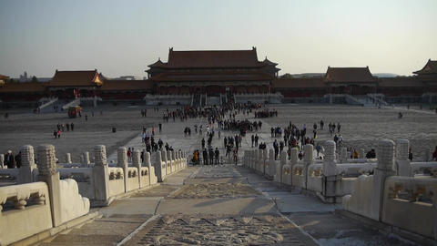 beijing forbidden city,China's royal architecture Stock Video Footage