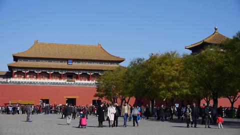 beijing forbidden city & tourist,China's royal... Stock Video Footage