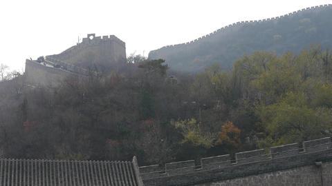 Great Wall on mountains,China's ancient... Stock Video Footage