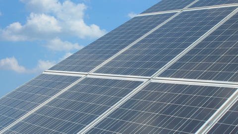 Solar battery 6 Stock Video Footage