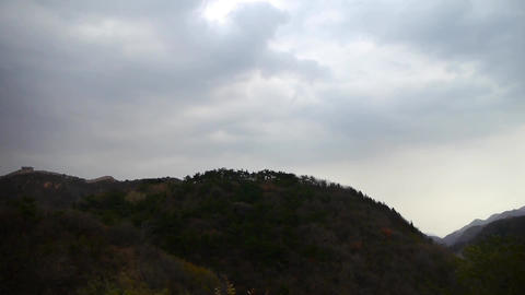 Panoramic of mountains,Altocumulus cloud in sky Stock Video Footage