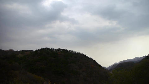 Panoramic Of Mountains,Altocumulus Cloud In Sky. stock footage