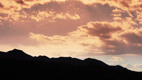 Panoramic of silhouette mountains in autumn,Altocumulus... Stock Video Footage