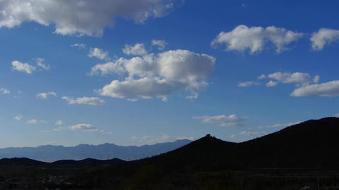 Panoramic of village silhouette mountains in... Stock Video Footage