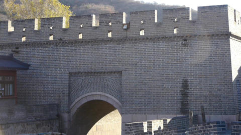 Ancient city Great Wall Battlements.Chinese cultural... Stock Video Footage