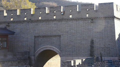 Ancient city Great Wall Battlements.Chinese cultural elements Footage