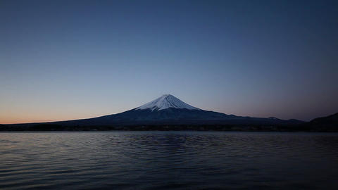 Mt. Fuji at dawn Stock Video Footage