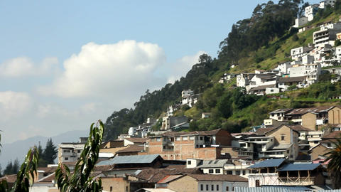Neighbourhood and small chapel in Quito Footage