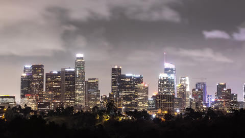 Time Lapse of the Los Angeles skyline at night Live Action